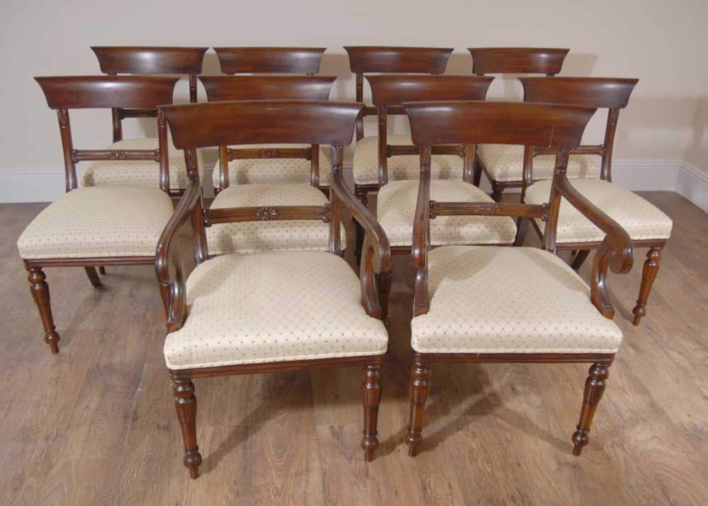Wondrous 10 English Regency Trafalgar Dining Chairs Antique Dining Ocoug Best Dining Table And Chair Ideas Images Ocougorg