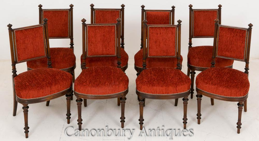 Set 8 William IV Mahogany Dining Chairs 1800