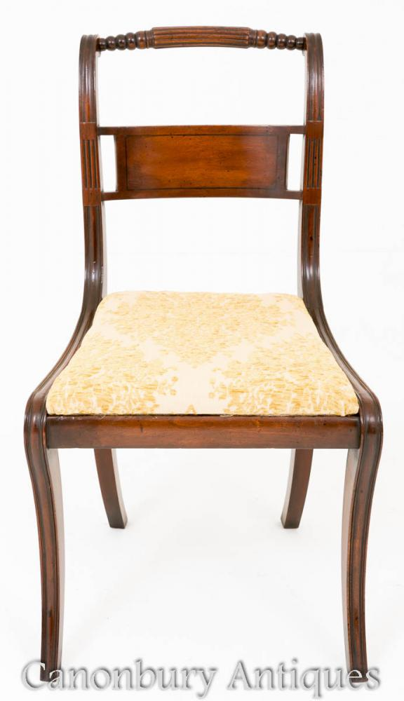 Regency Dining Chairs in Mahogany Set 12