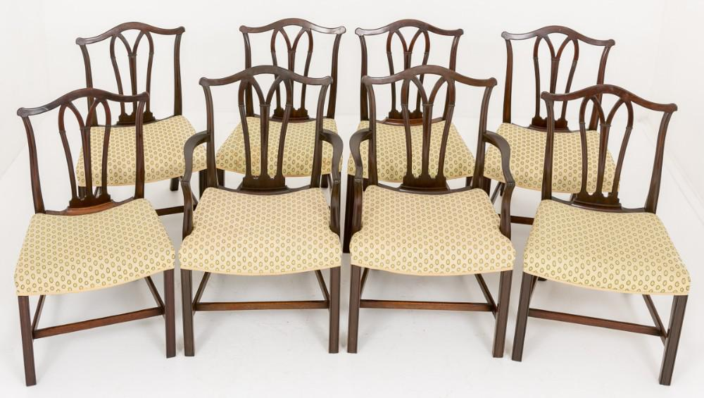 Set Hepplewhite Dining Chairs in Cuban Mahogany