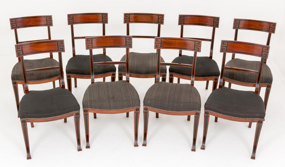 Set Mahogany Regency Dining Chairs Circa 1920