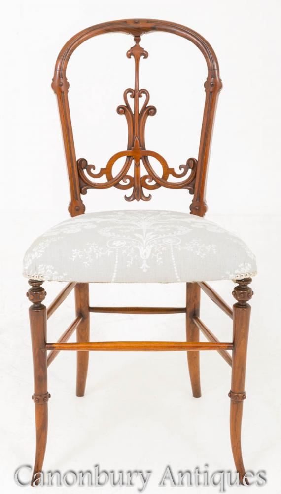 Victorian Walnut Chair 1860 Antique Chairs