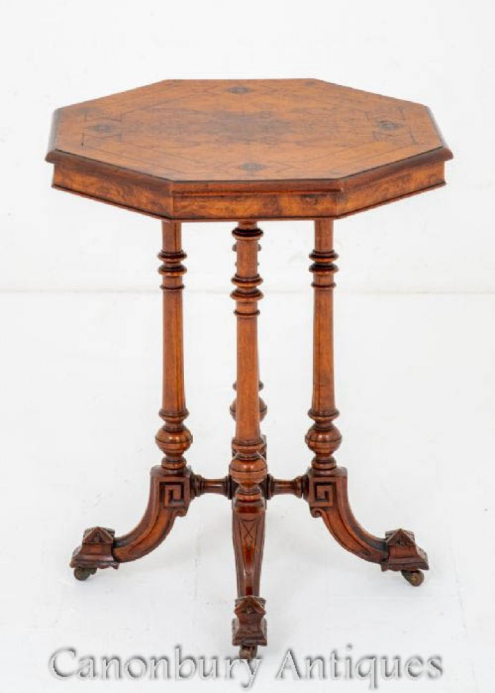 Antique Side Table - Walnut Occasional 1870