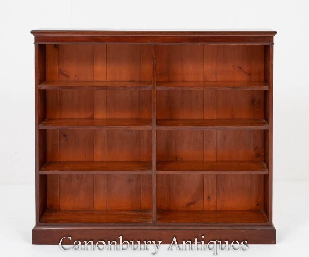 Victorian Bookcase - Antique Mahogany Double Circa 1880